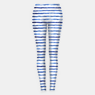 Miniaturka Blue grungy stripes Leggings, Live Heroes