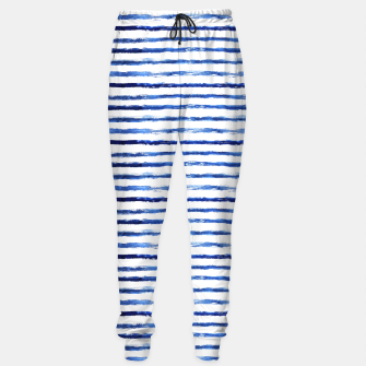 Miniaturka Blue grungy stripes Sweatpants, Live Heroes