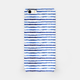 Thumbnail image of Blue grungy stripes iPhone Case, Live Heroes