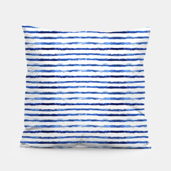 Thumbnail image of Blue grungy stripes Pillow, Live Heroes