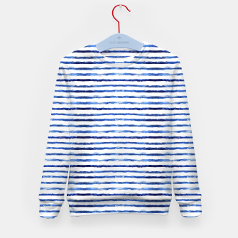 Miniaturka Blue grungy stripes Kid's Sweater, Live Heroes