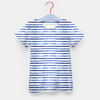 Miniaturka Blue grungy stripes Kid's T-shirt, Live Heroes
