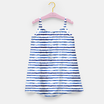 Miniaturka Blue grungy stripes Girl's Dress, Live Heroes