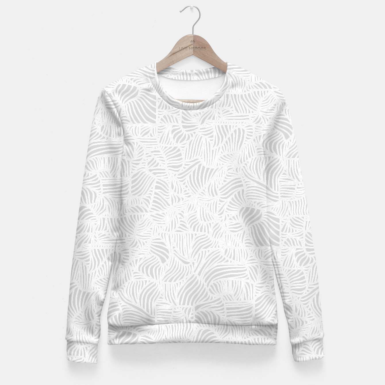 Image of white Fitted Waist Sweater - Live Heroes