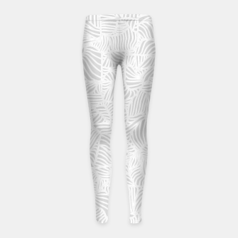 Thumbnail image of white Girl's Leggings, Live Heroes
