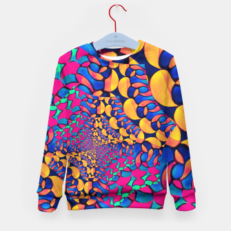 Thumbnail image of Psychedelic Trippy Abstract Pattern  Kid's Sweater, Live Heroes