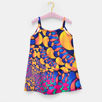 Thumbnail image of Psychedelic Trippy Abstract Pattern  Girl's Dress, Live Heroes