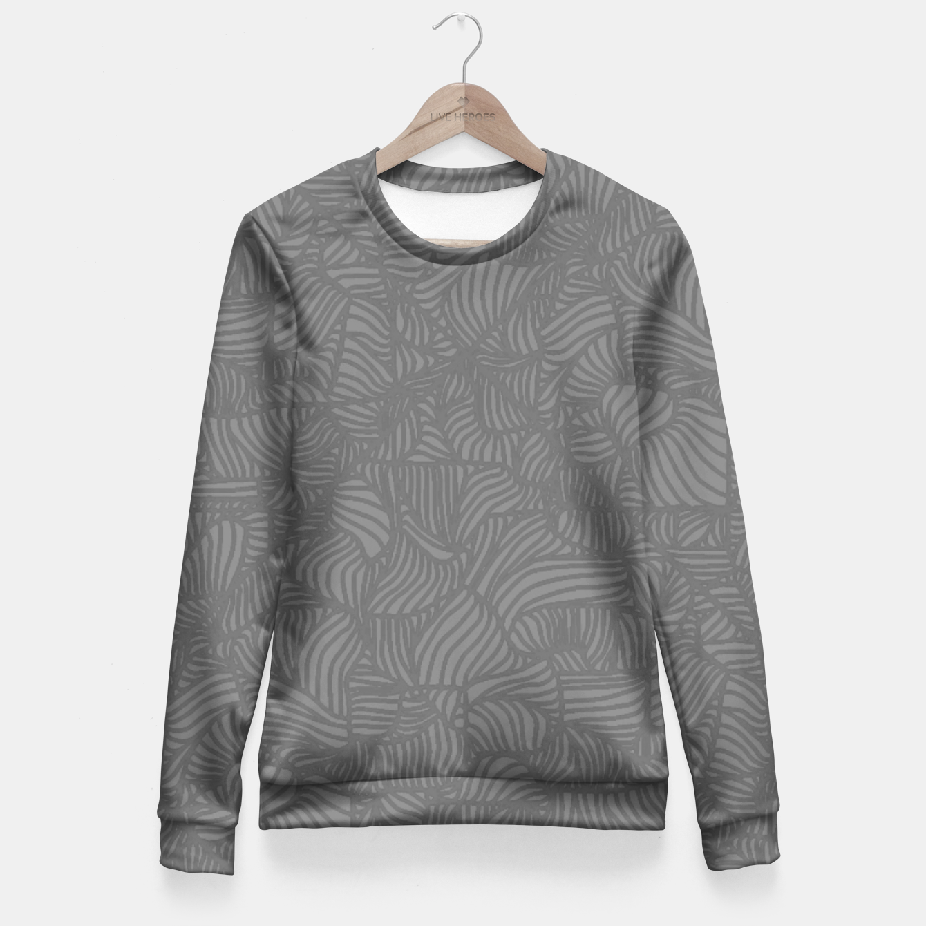 Image of gray Fitted Waist Sweater - Live Heroes