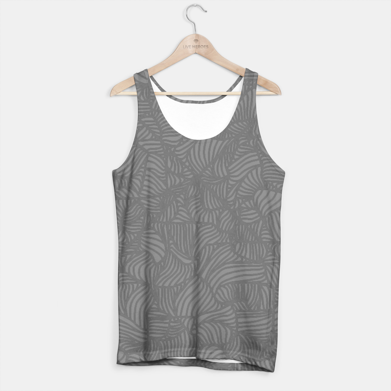 Image of gray Tank Top - Live Heroes