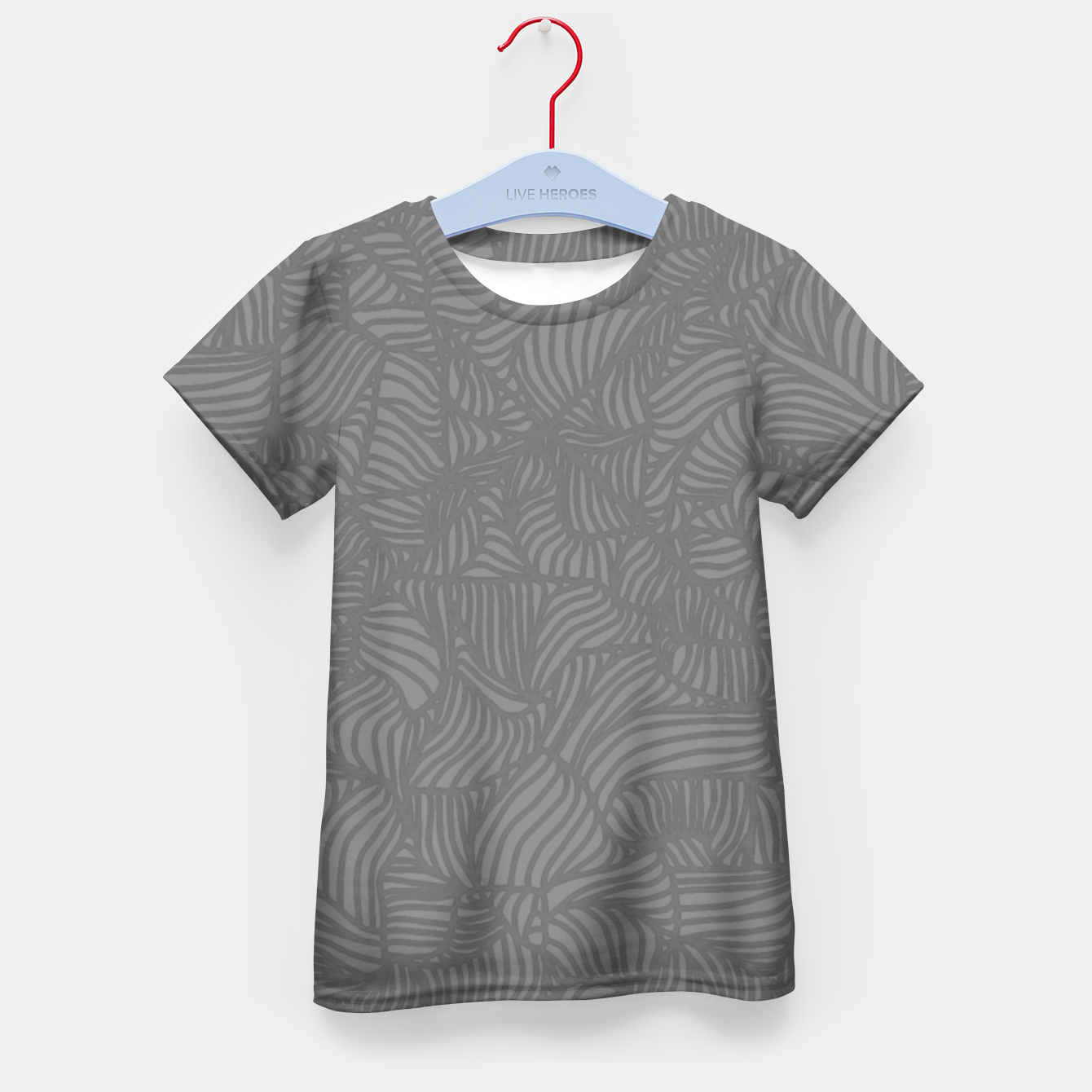 Image of gray Kid's T-shirt - Live Heroes