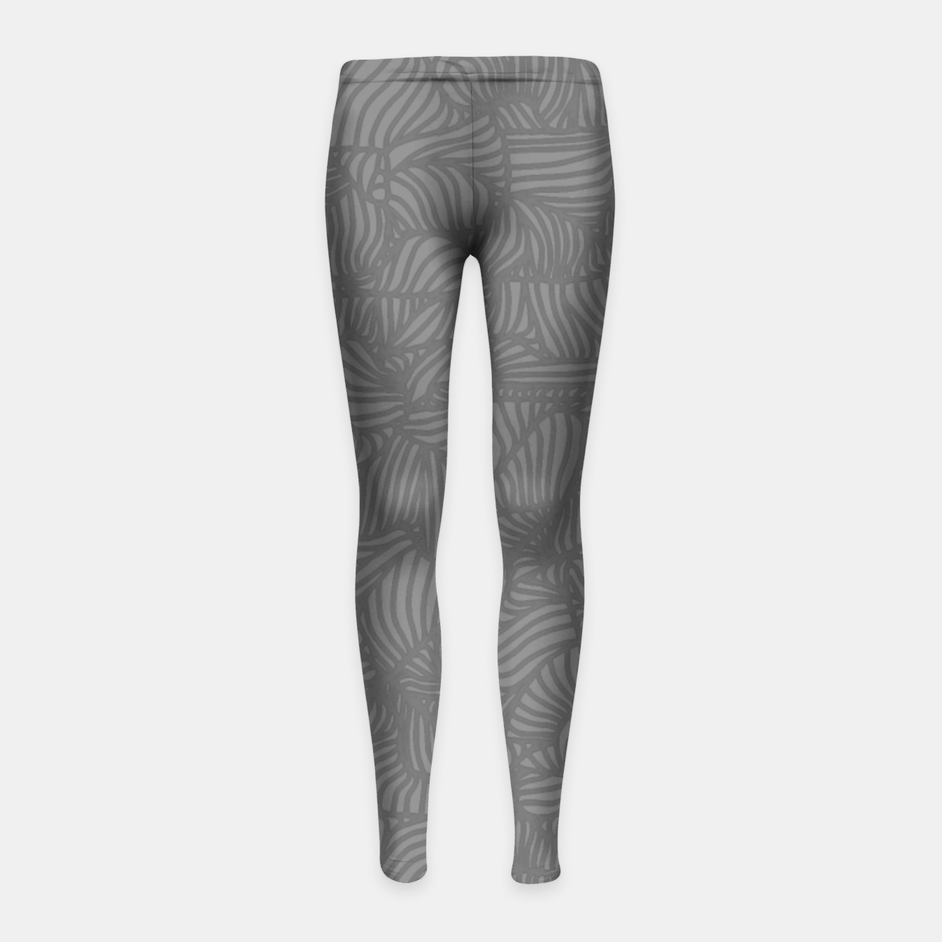 Image of gray Girl's Leggings - Live Heroes