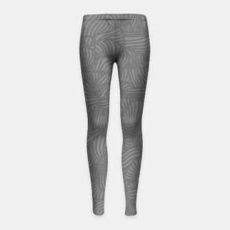 Thumbnail image of gray Girl's Leggings, Live Heroes
