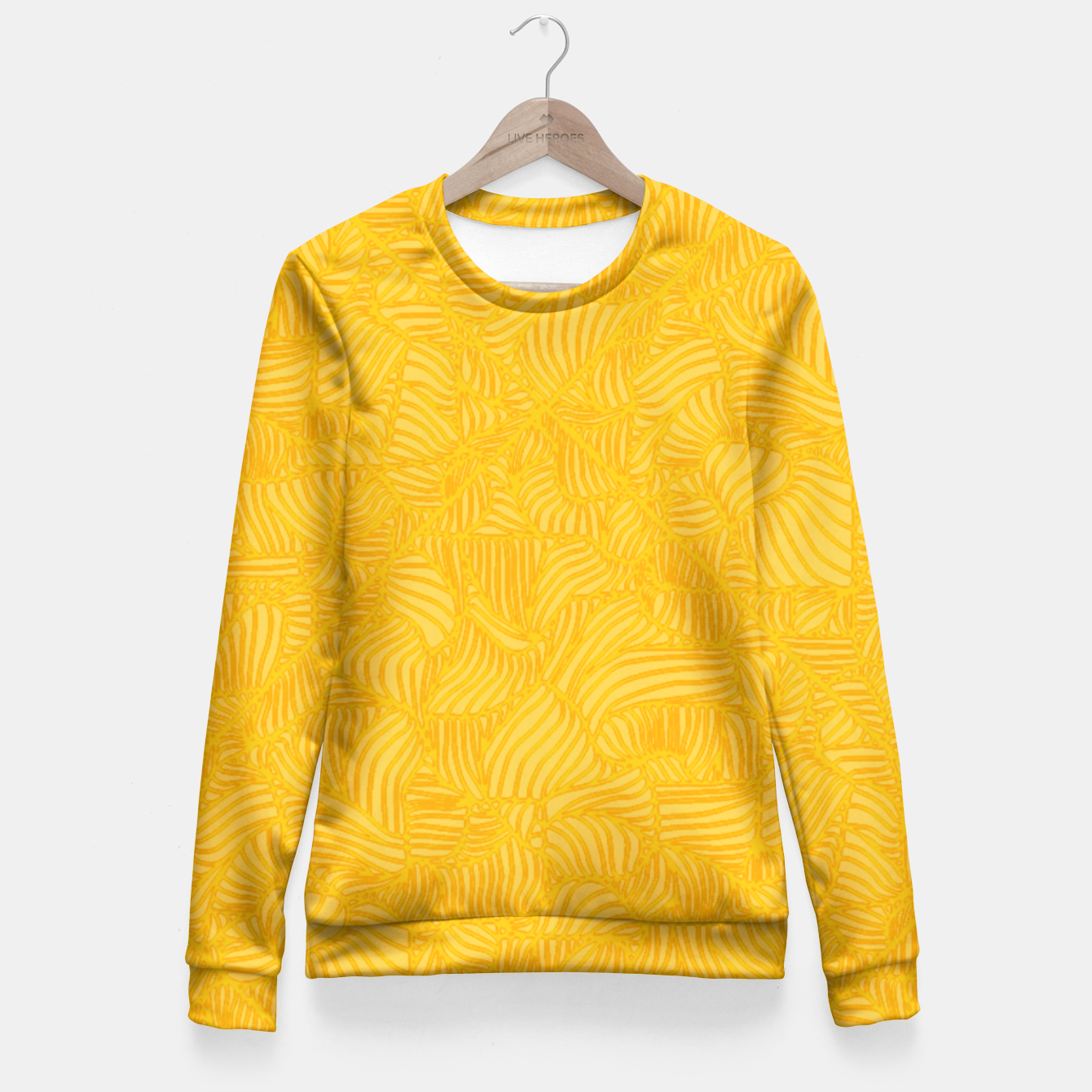 Image of yellow Fitted Waist Sweater - Live Heroes