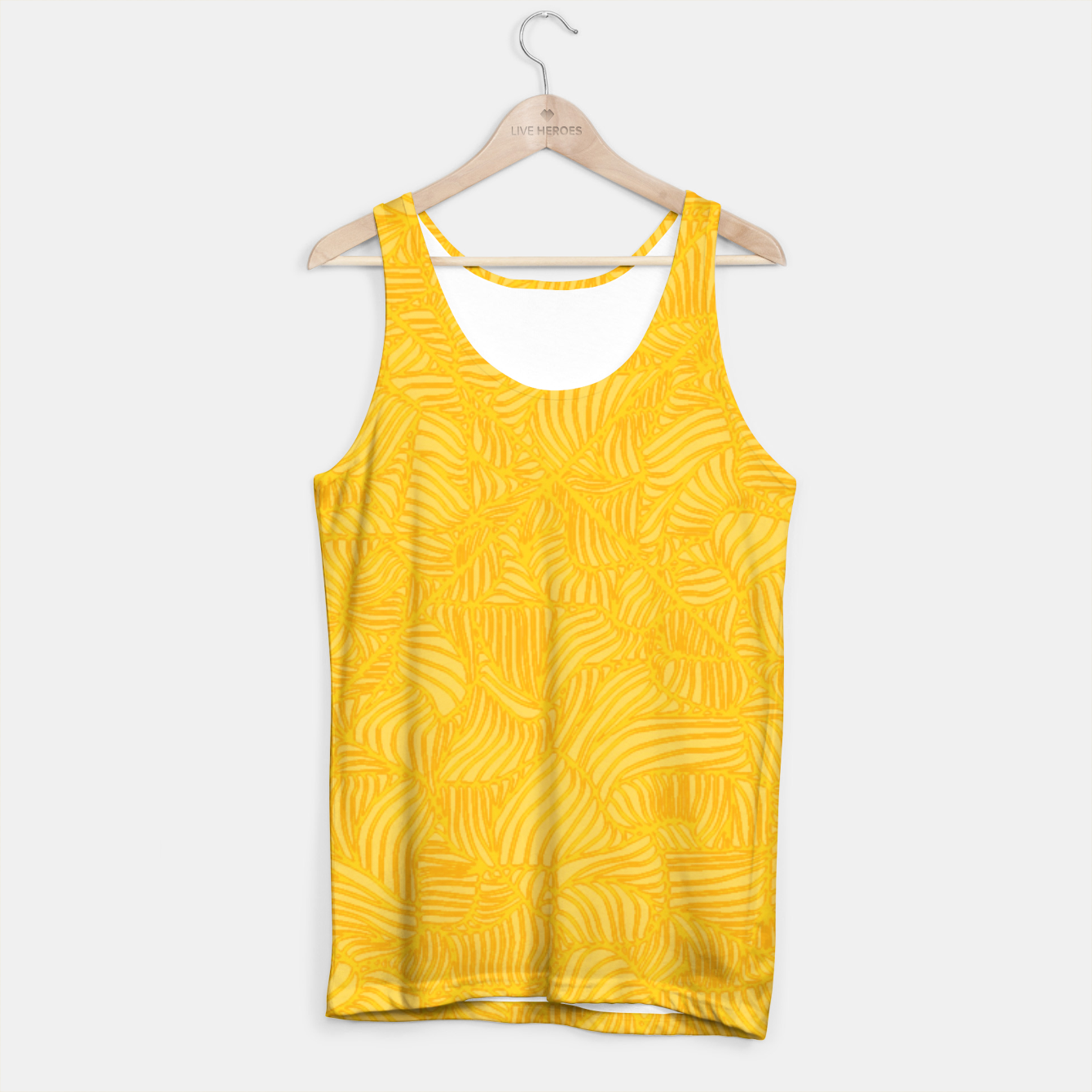 Image of yellow Tank Top - Live Heroes