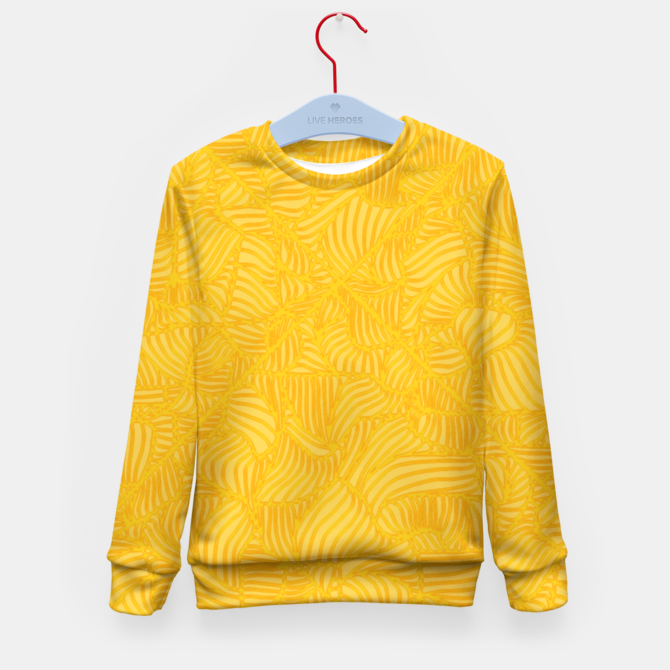 Image of yellow Kid's Sweater - Live Heroes