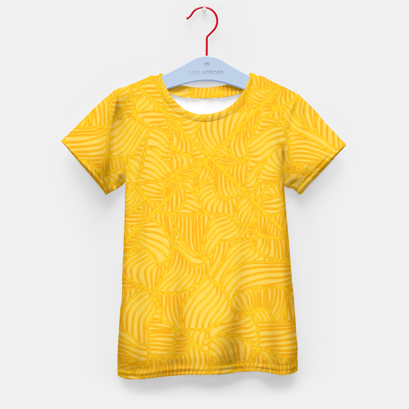 Image of yellow Kid's T-shirt - Live Heroes