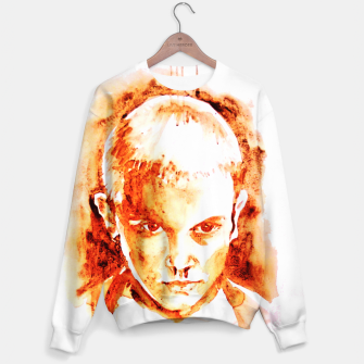 Thumbnail image of Stranger thing 11 coffe painting girl portrait Sweater, Live Heroes