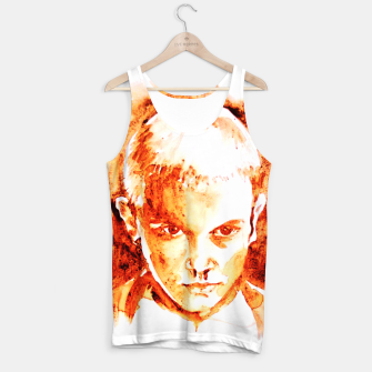 Thumbnail image of Stranger thing 11 coffe painting girl portrait Tank Top, Live Heroes