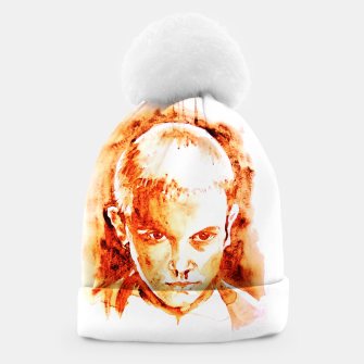 Thumbnail image of Stranger thing 11 coffe painting girl portrait Beanie, Live Heroes