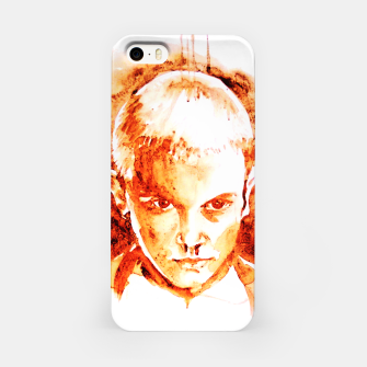 Thumbnail image of Stranger thing 11 coffe painting girl portrait iPhone Case, Live Heroes