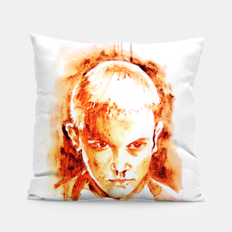 Thumbnail image of Stranger thing 11 coffe painting girl portrait Pillow, Live Heroes