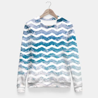 Ocean Waves Fitted Waist Sweater obraz miniatury