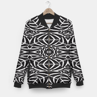 Imagen en miniatura de Black and White Tribal Pattern Baseball Jacket, Live Heroes
