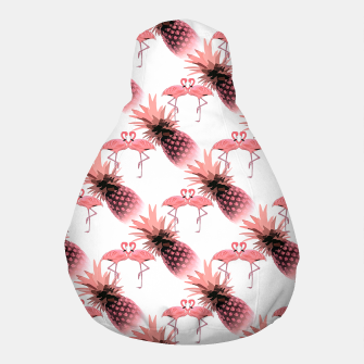 Thumbnail image of Pink Flamingos Pineapples Tropical Fruit Pattern Pouf, Live Heroes