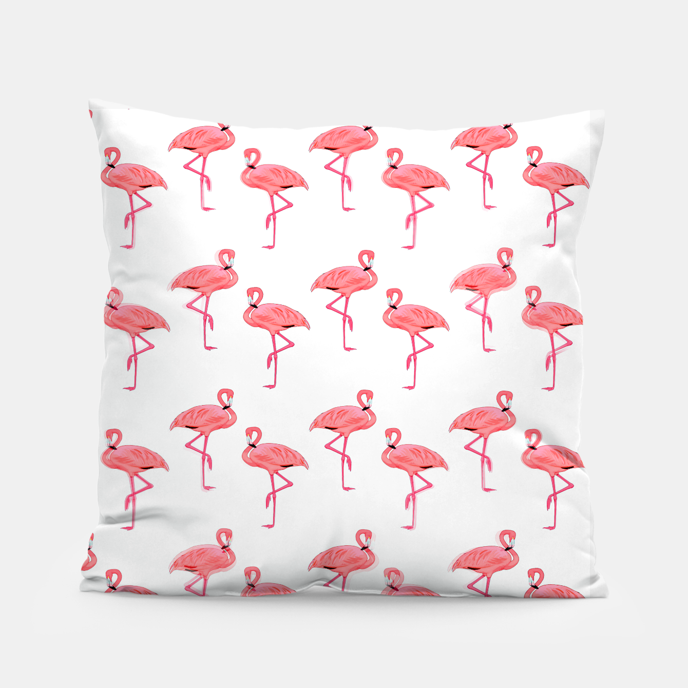 Image of Classic Pink Flamingo Pattern Pillow - Live Heroes