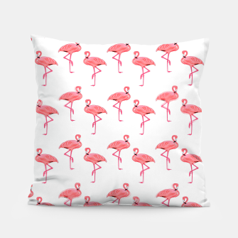Thumbnail image of Classic Pink Flamingo Pattern Pillow, Live Heroes