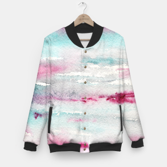 Imagen en miniatura de Abstract pink and turquoise Baseball Jacket, Live Heroes