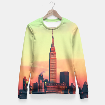 Thumbnail image of NYC Skyline Fitted Waist Sweater, Live Heroes