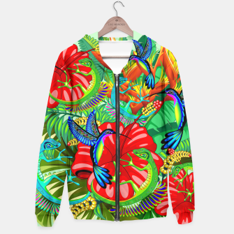 Thumbnail image of The Lizard, The Hummingbird and The Hibiscus Hoodie, Live Heroes