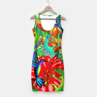 Thumbnail image of The Lizard, The Hummingbird and The Hibiscus Simple Dress, Live Heroes