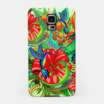 Thumbnail image of The Lizard, The Hummingbird and The Hibiscus Samsung Case, Live Heroes