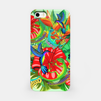 Thumbnail image of The Lizard, The Hummingbird and The Hibiscus iPhone Case, Live Heroes