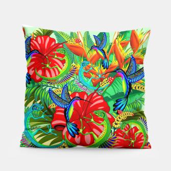 Thumbnail image of The Lizard, The Hummingbird and The Hibiscus Pillow, Live Heroes