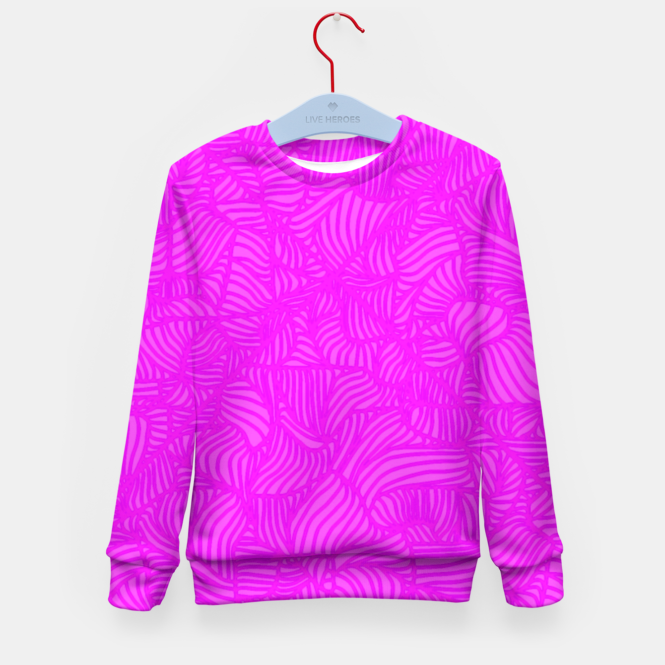 Image of pink Kid's Sweater - Live Heroes