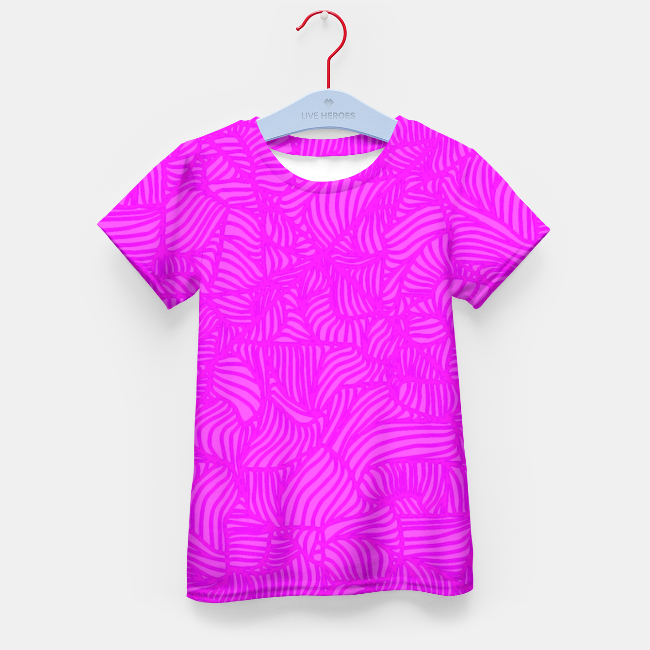 Image of pink Kid's T-shirt - Live Heroes