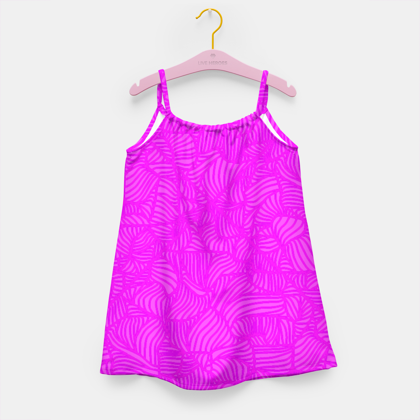 Image of pink Girl's Dress - Live Heroes