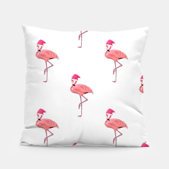Thumbnail image of Pink Flamingo Santa Claus  Pillow, Live Heroes