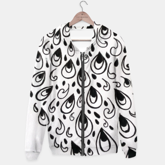 Thumbnail image of peacock feather Hoodie, Live Heroes
