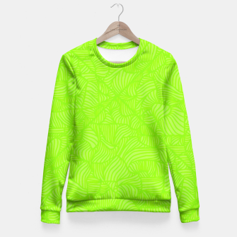 green Fitted Waist Sweater thumbnail image