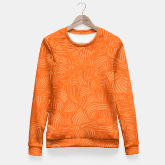 orange Fitted Waist Sweater thumbnail image