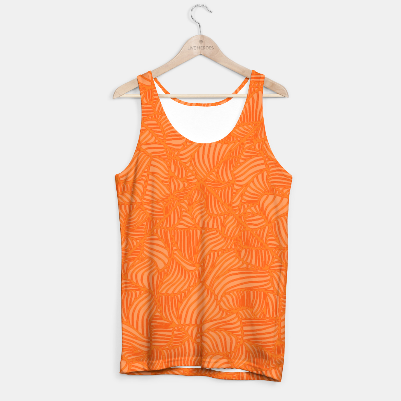 Image of orange Tank Top - Live Heroes