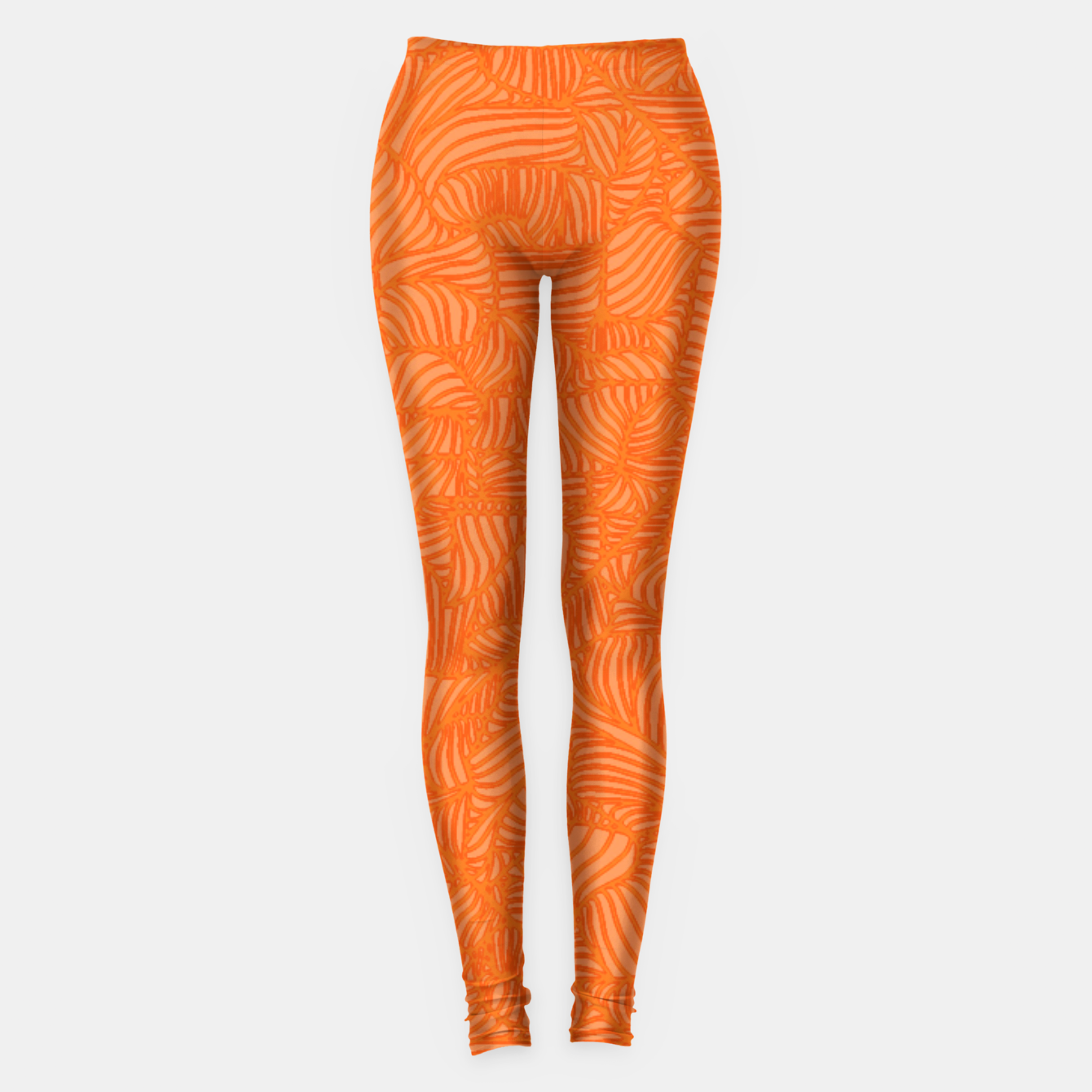 Image of orange Leggings - Live Heroes