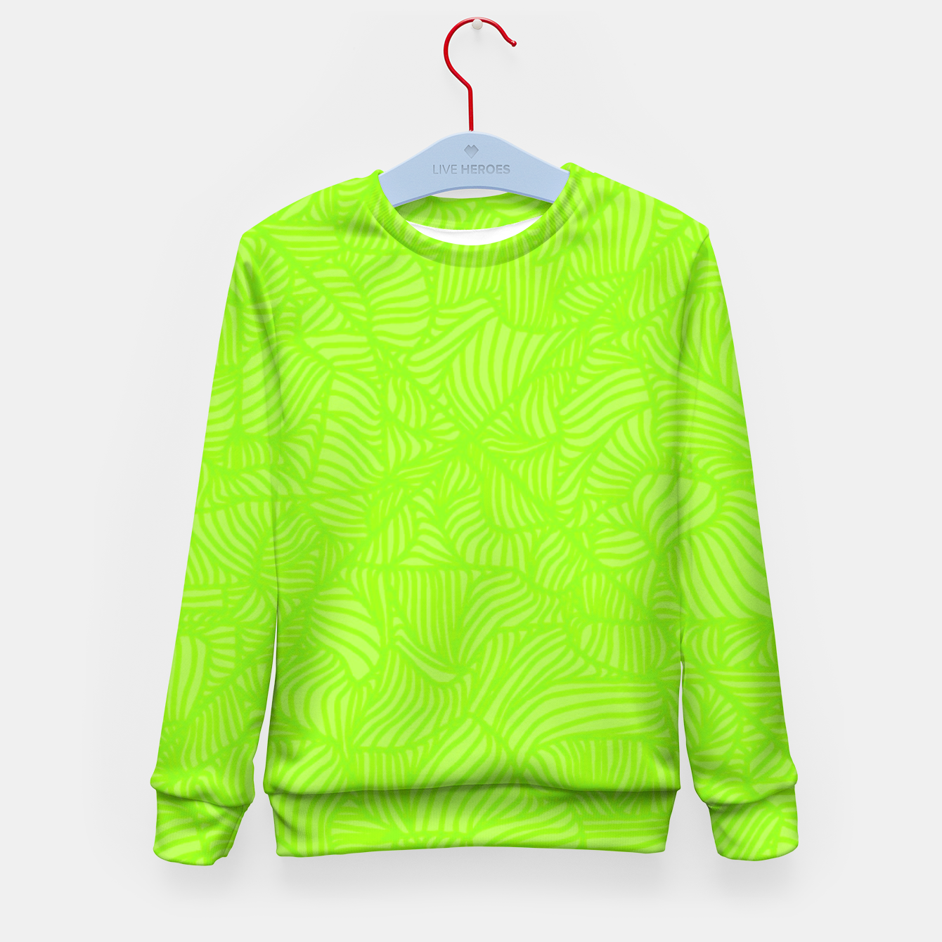 Image of green Kid's Sweater - Live Heroes