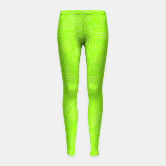 Thumbnail image of green Girl's Leggings, Live Heroes
