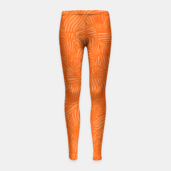 Thumbnail image of orange Girl's Leggings, Live Heroes