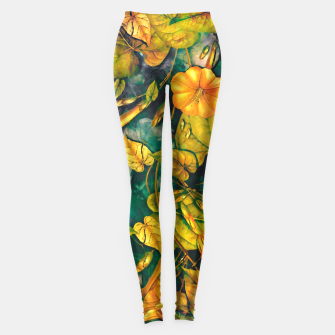 Thumbnail image of flower orange Leggings, Live Heroes